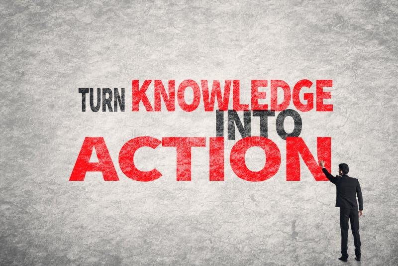 把知识变成行动 免版税库存图片
