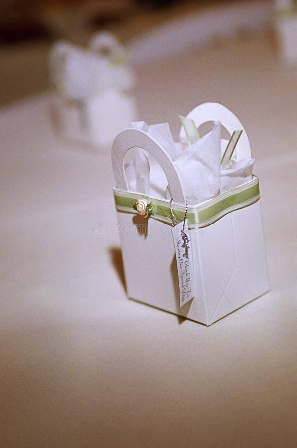 把礼品婚礼装箱 免版税库存照片