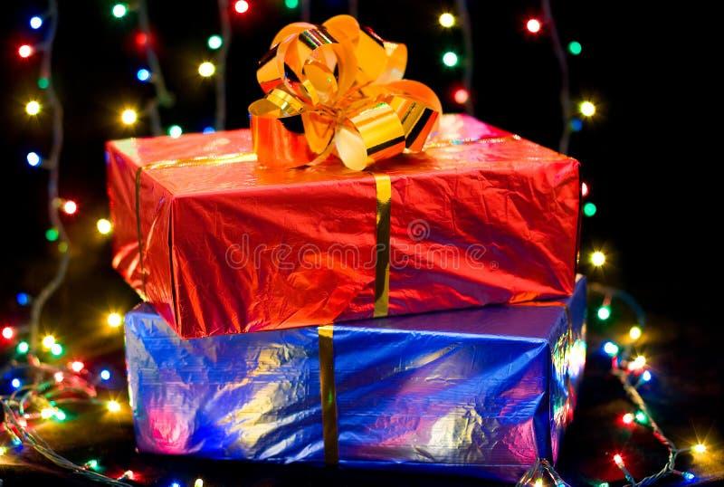把礼品装箱 库存图片