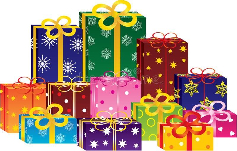 Download 把礼品装箱 向量例证. 插画 包括有 金子, 圣诞节, 程序包, 庆祝, 标签, beautifuler - 22357189