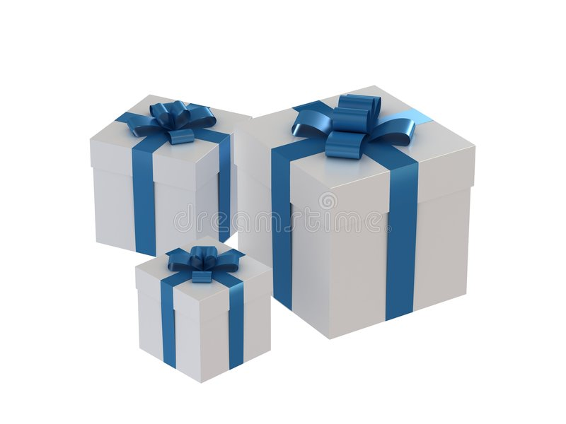 把礼品装箱 向量例证