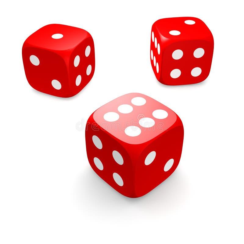 把红色三切成小方块 皇族释放例证