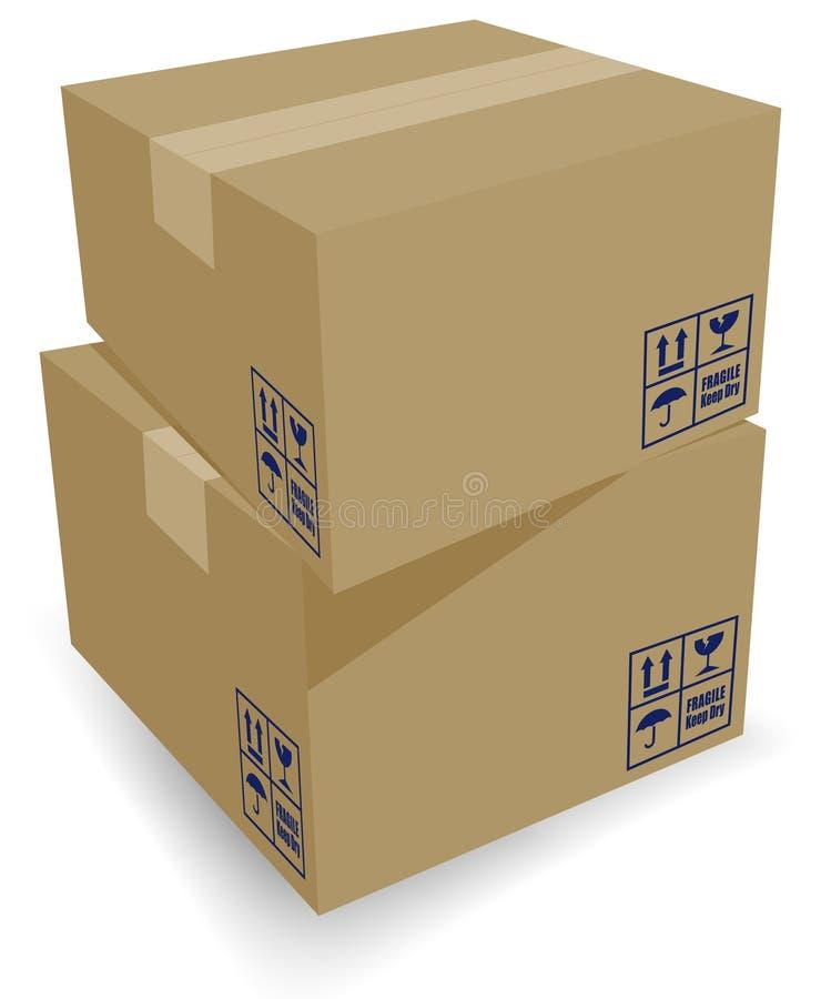 把纸板发运装箱 向量例证