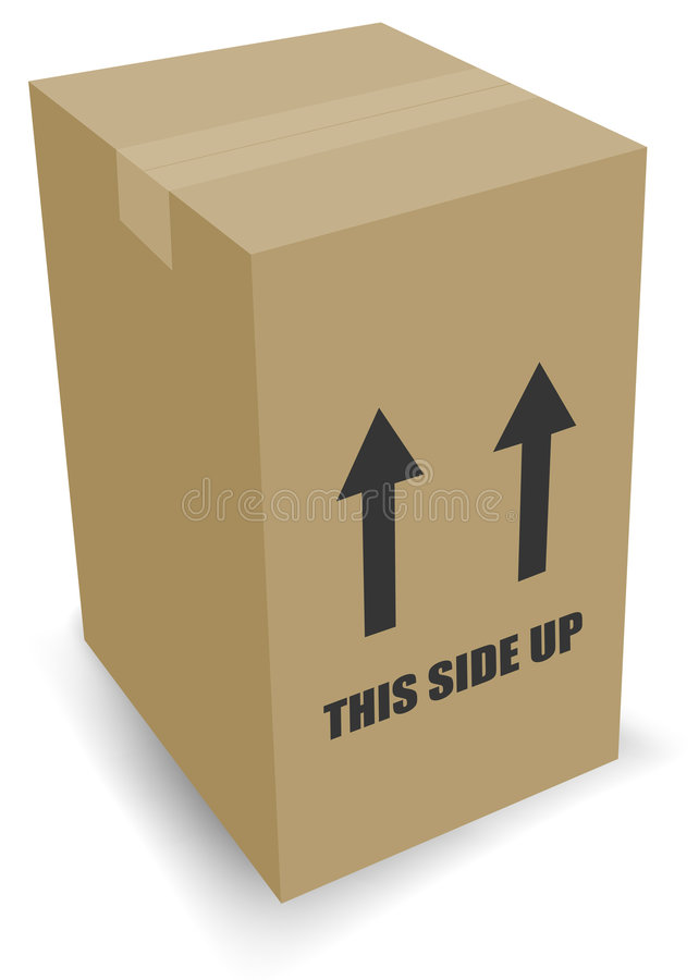 把纸板移动装箱 库存例证