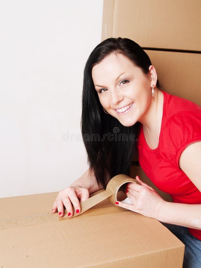 把纸板藏品装箱妇女装箱 库存图片