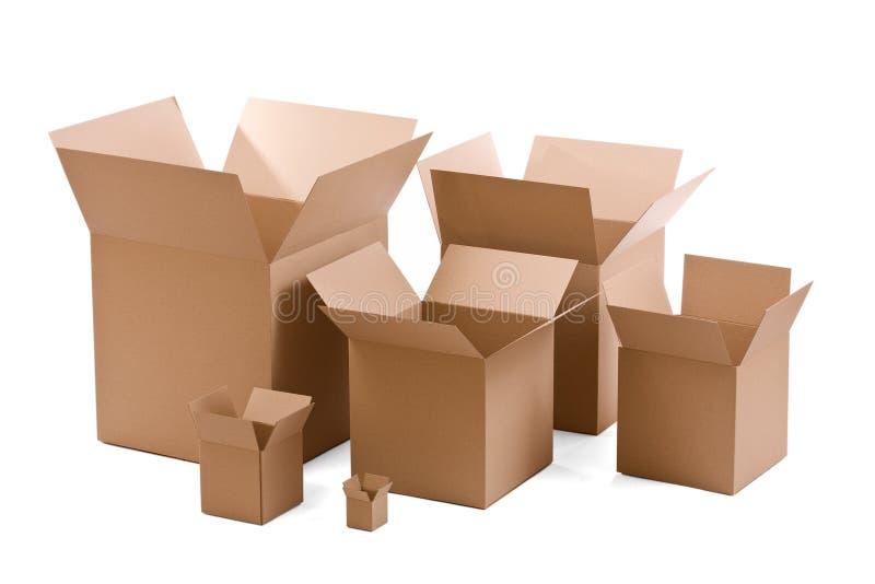 把纸板装箱 免版税库存图片