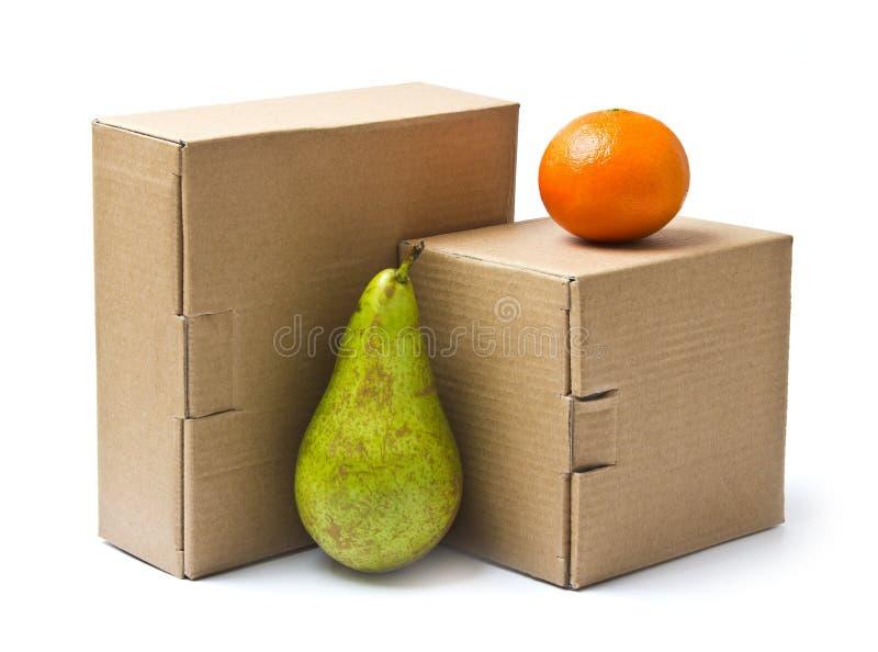 把纸板货物产品装箱 免版税库存照片
