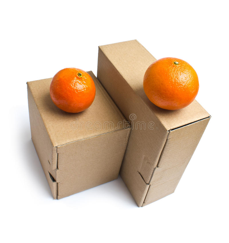 把纸板货物产品装箱 免版税库存图片