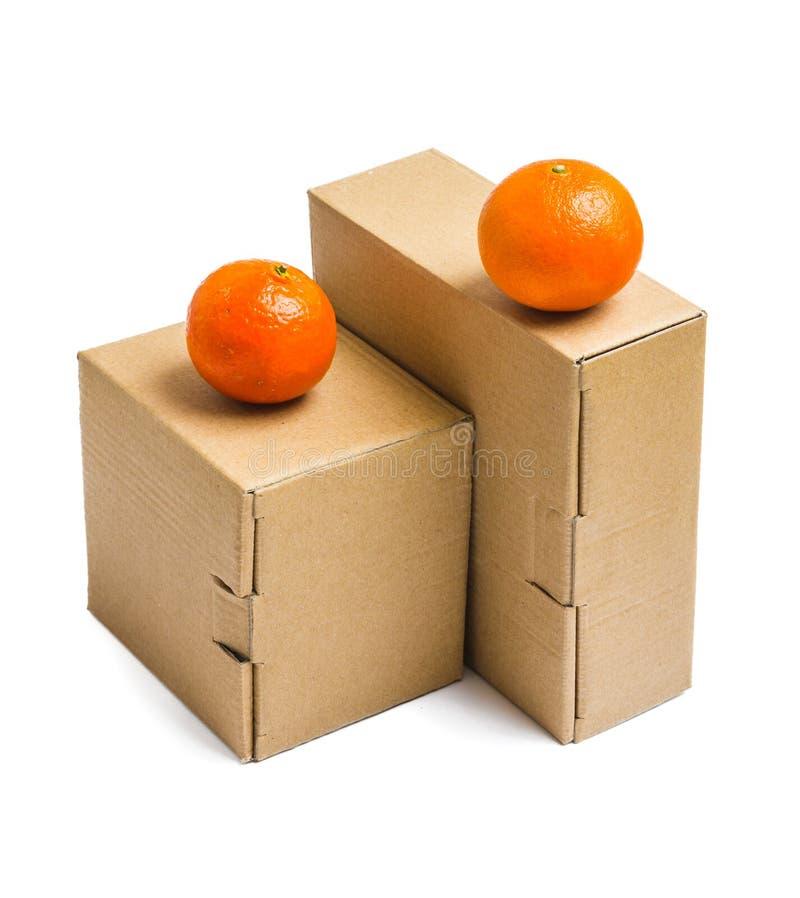 把纸板货物产品装箱 图库摄影