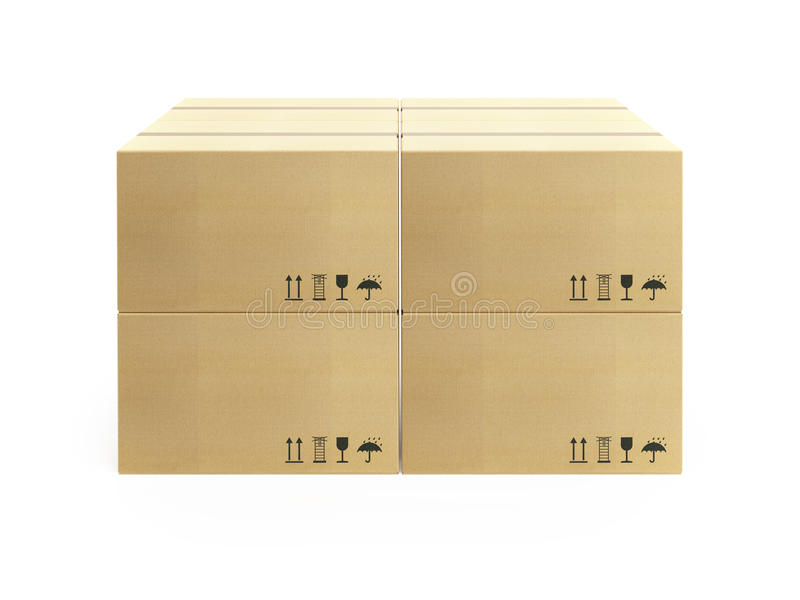 把纸板货盘装箱 免版税库存照片