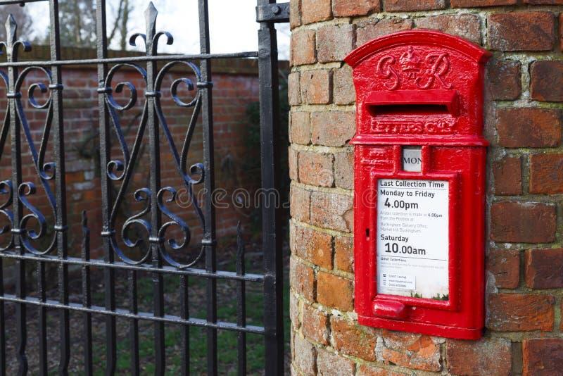把英国老过帐装箱 免版税库存照片