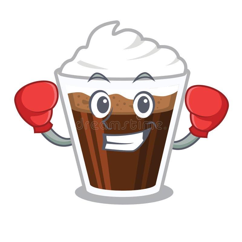 把装箱的爱尔兰coffe隔绝与动画片 库存例证