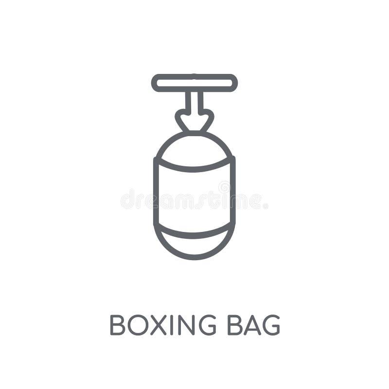 把装箱的袋子线性象 现代概述拳击袋子商标概念o 皇族释放例证