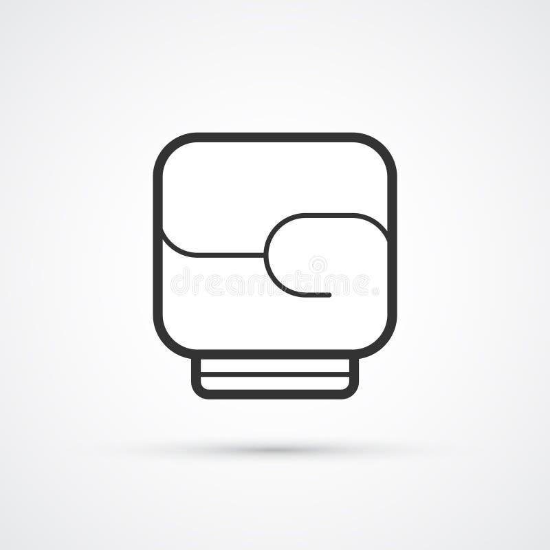 把装箱的黑线手套象传染媒介eps10 向量例证