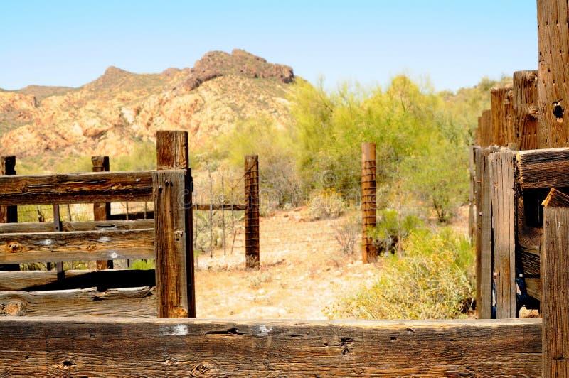 把西部赶入围栏 免版税图库摄影