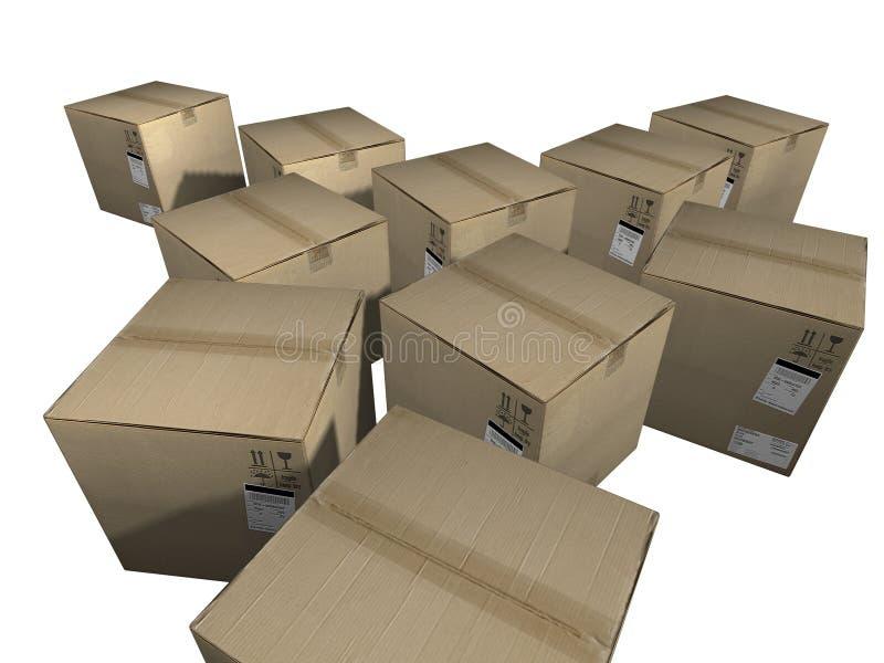 把货物装箱 向量例证