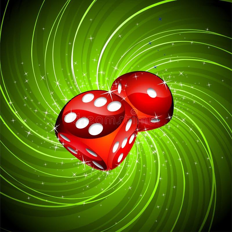 把赌博的例证红色切成小方块 皇族释放例证