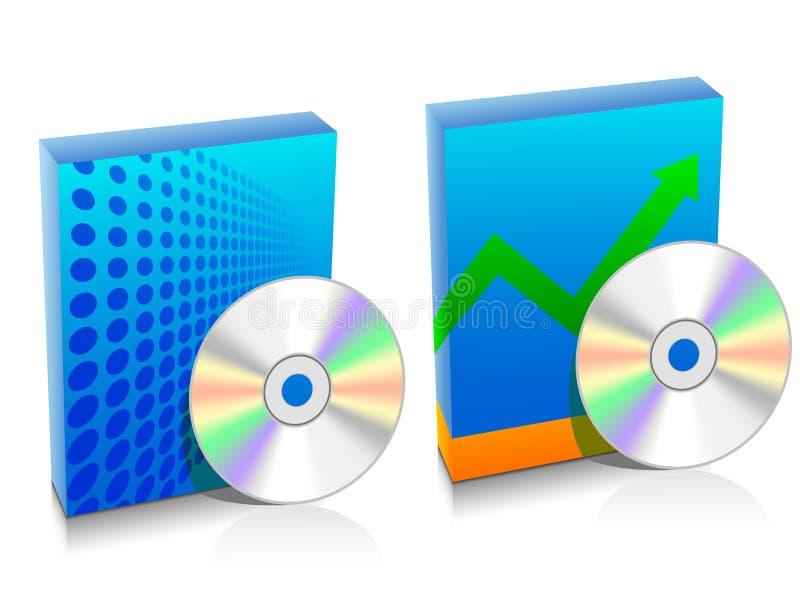 把软件二装箱 库存例证