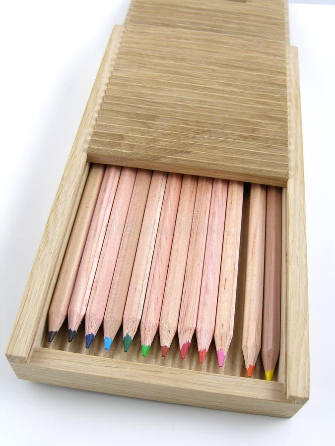 把铅笔装箱 库存照片