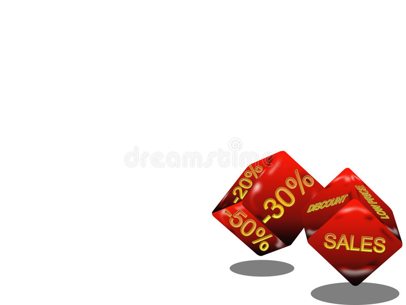 把销售额切成小方块 库存例证
