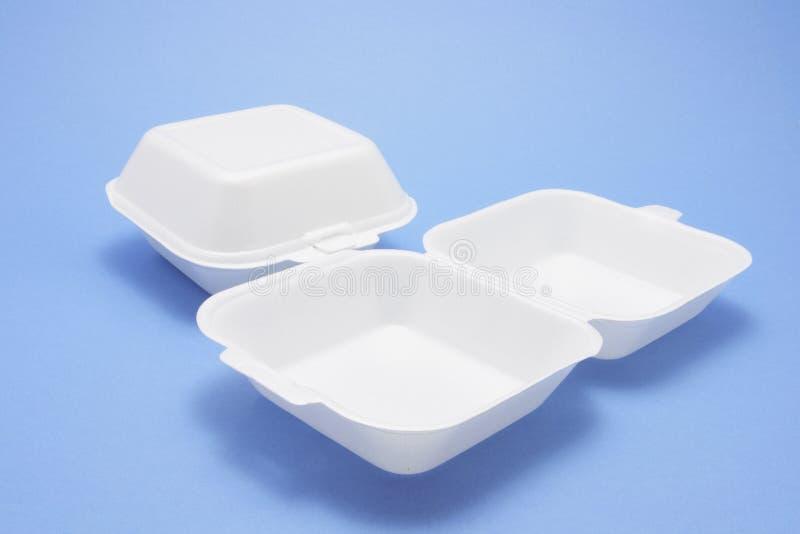 把食物多苯乙烯装箱 库存图片