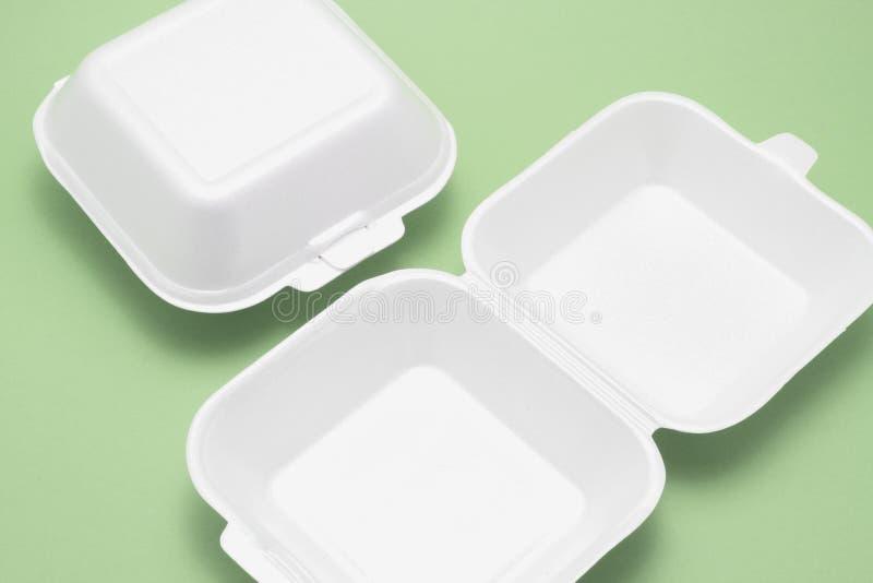 把食物多苯乙烯装箱 图库摄影