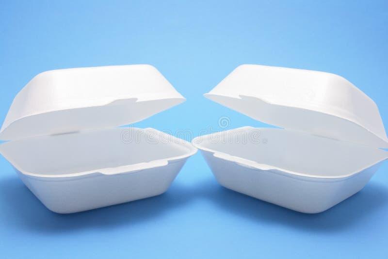 把食物多苯乙烯装箱 免版税库存图片