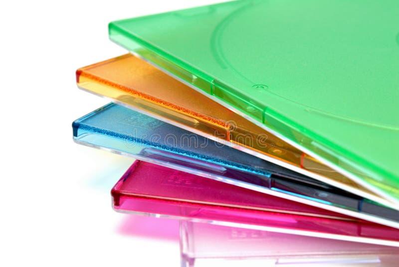 把CD的盘装箱的配件箱 免版税库存图片
