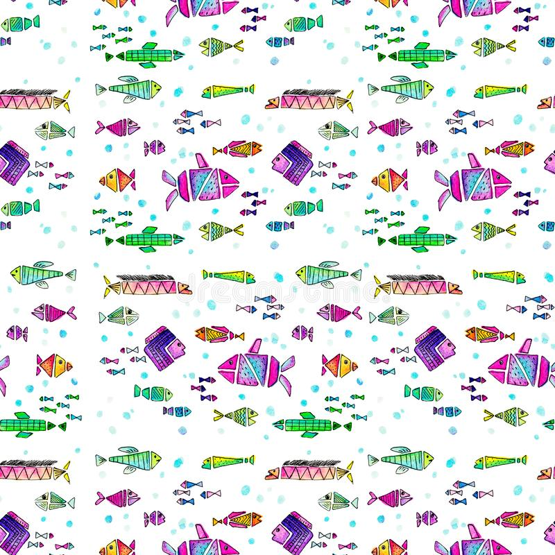 抓所有鱼 免版税库存照片