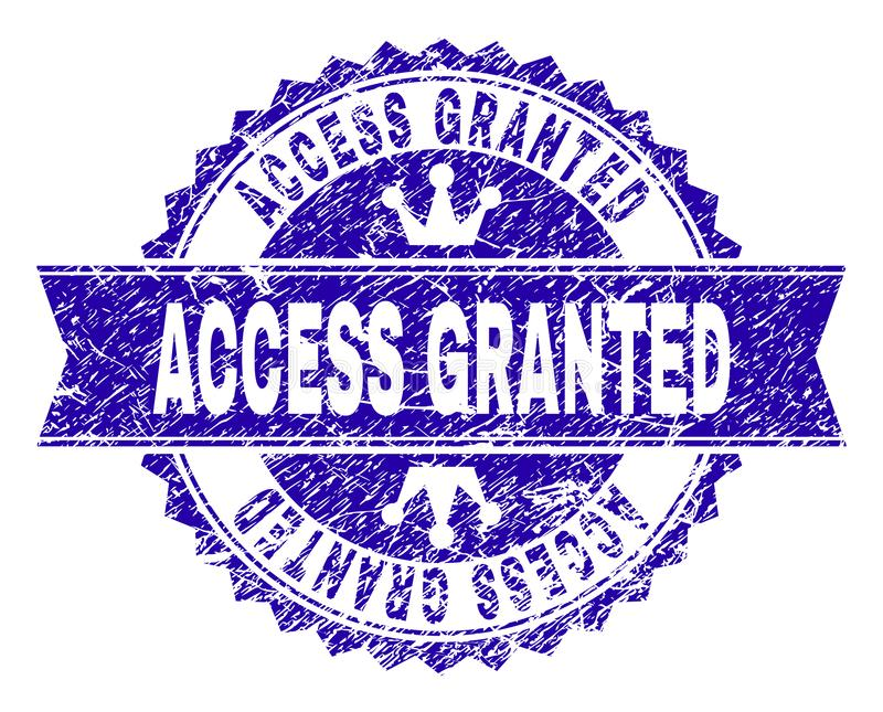 抓构造访问有丝带的被授予的邮票封印 库存例证