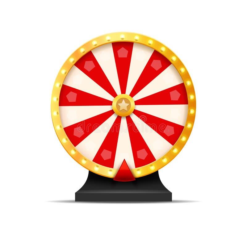 抓阄转轮抽奖运气例证 赌博娱乐场机会对策 胜利时运轮盘赌 赌博机会休闲 向量例证