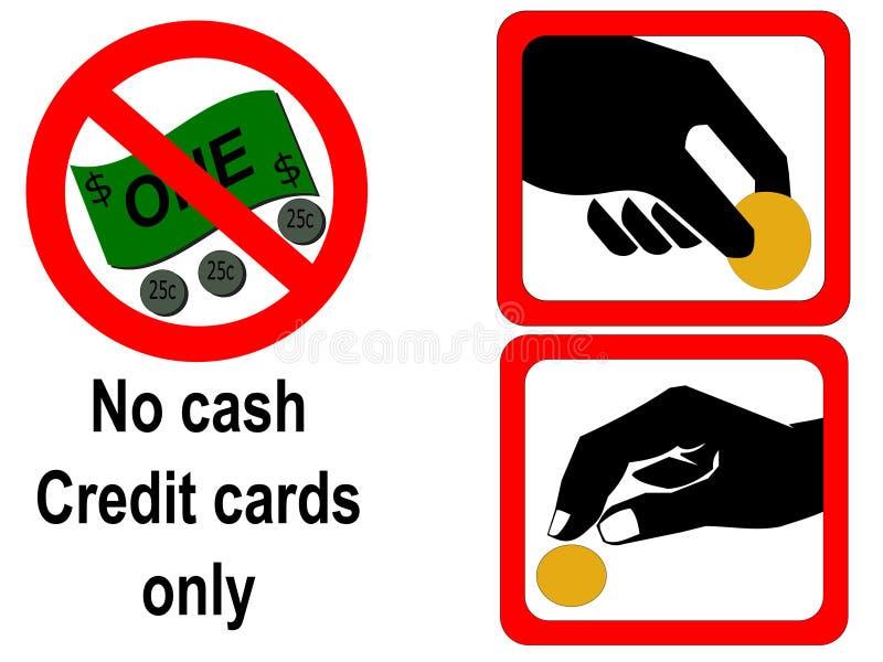 投入硬币后自动操作的符号 向量例证