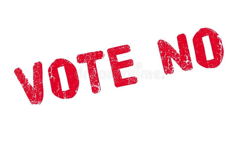 投反对票不加考虑表赞同的人 库存例证