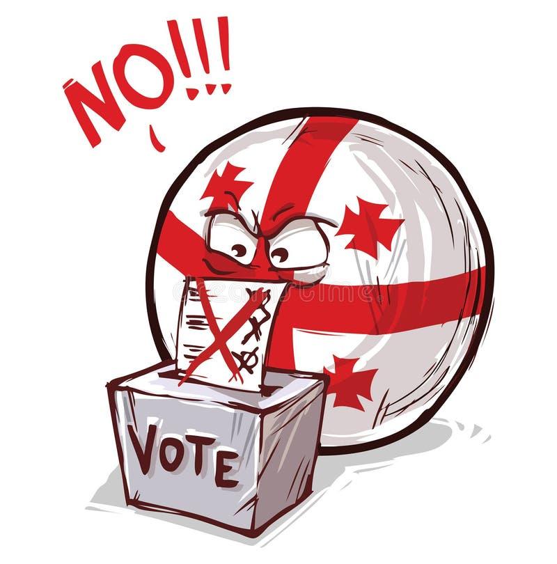 投反对票乔治亚的国家 库存例证