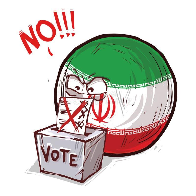 投反对票伊朗的国家 向量例证