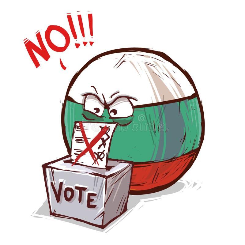 投反对票保加利亚的国家 库存例证
