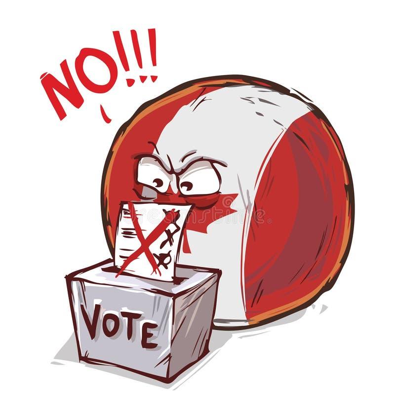 投反对票加拿大的国家 皇族释放例证