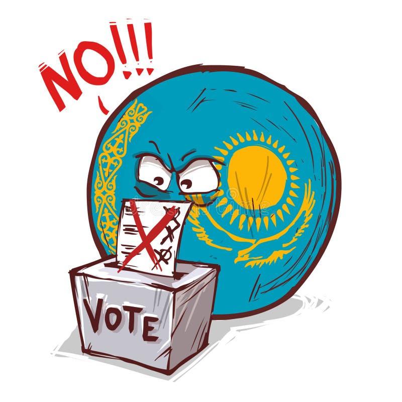 投反对票哈萨克斯坦的国家 库存例证