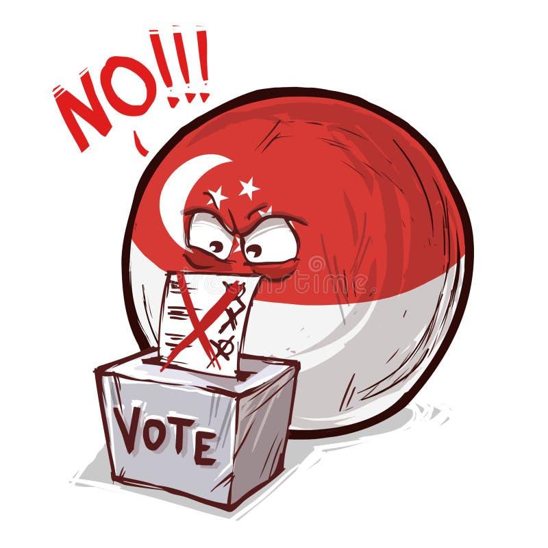 投反对票新加坡的国家 库存例证