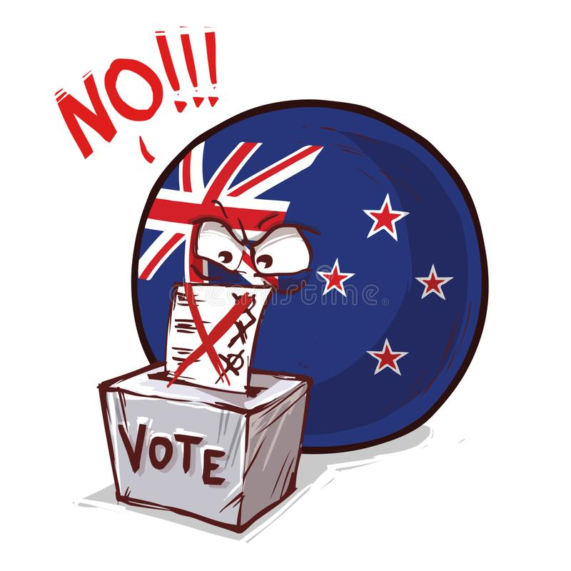 投反对票新的Zeland国家的球 库存例证