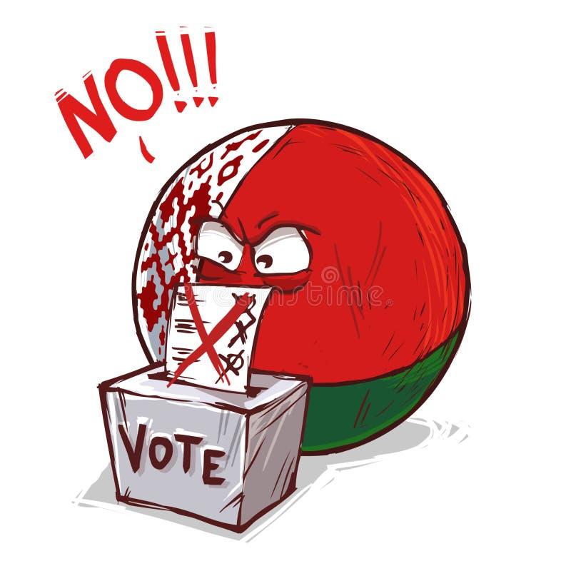 投反对票白俄罗斯的国家 库存例证