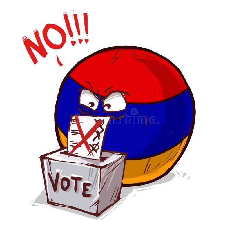 投反对票的亚美尼亚 库存例证