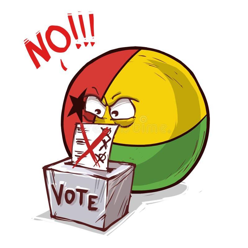 投反对票的几内亚 皇族释放例证