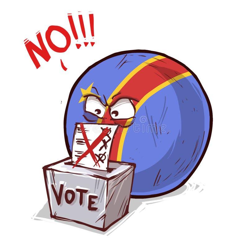 投反对票的刚果 皇族释放例证