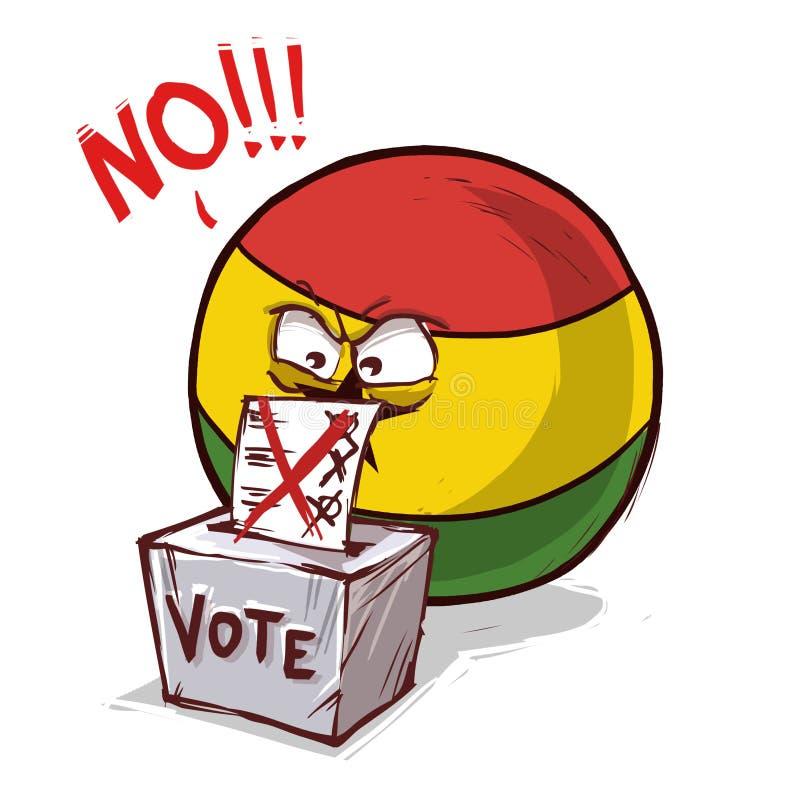 投反对票的加纳 向量例证