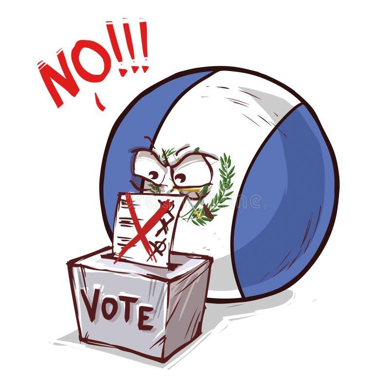 投反对票的危地马拉 皇族释放例证