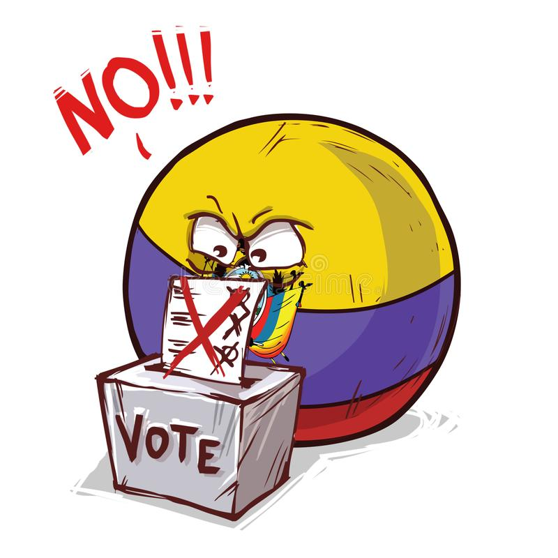 投反对票的厄瓜多尔 库存例证