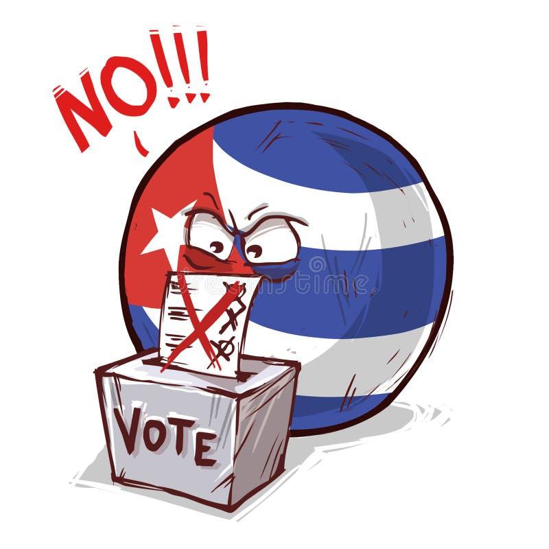 投反对票的古巴 库存例证