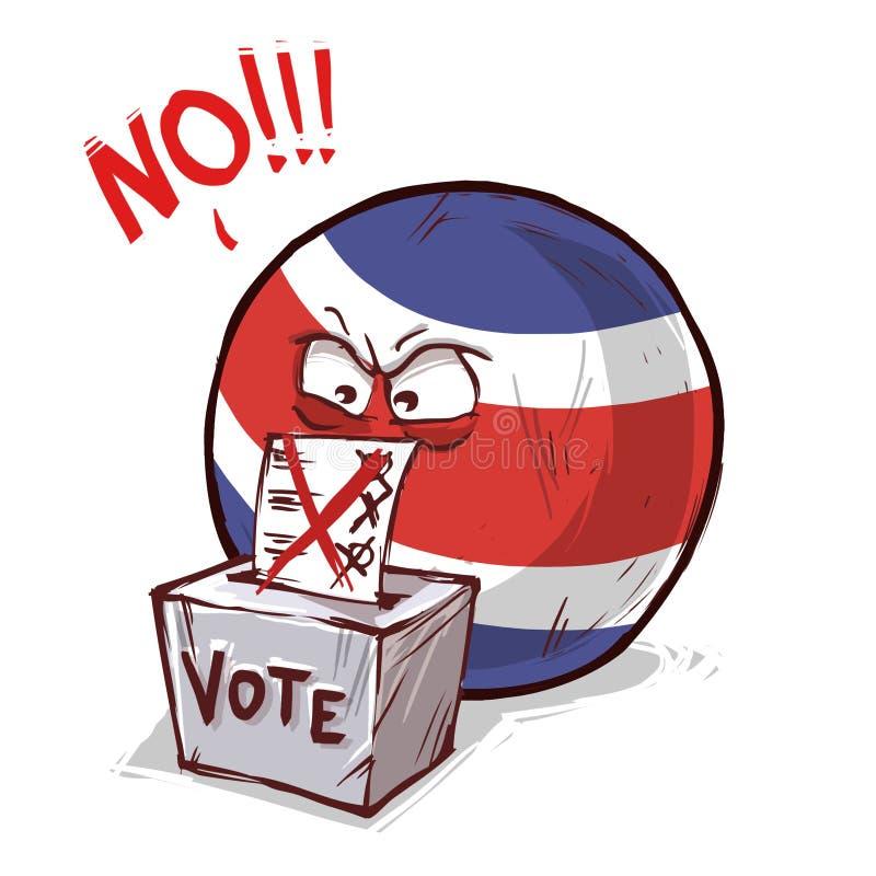 投反对票的哥斯达黎加 库存例证