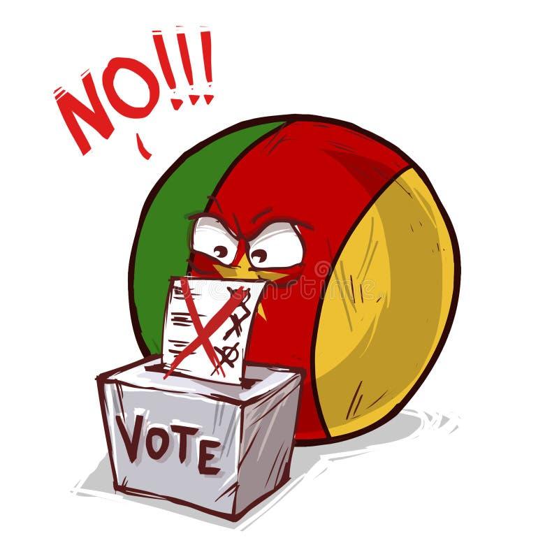 投反对票的喀麦隆 库存例证